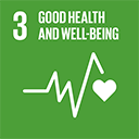SDGs logo, Good Health and Well-Being