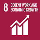 SDGs logo, Decent Work and Economic Growth